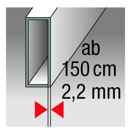 Vodováha ALUSTAR, standardní provedení, 150cm, 3 libely.