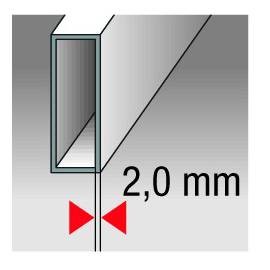 Vodováha HIGHPRECISION, přesnost 0,3mm/m, délka 180cm