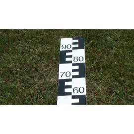 Vodočetná (limnigrafická) lať NESTLE, délka 1m, černá, 00-99.
