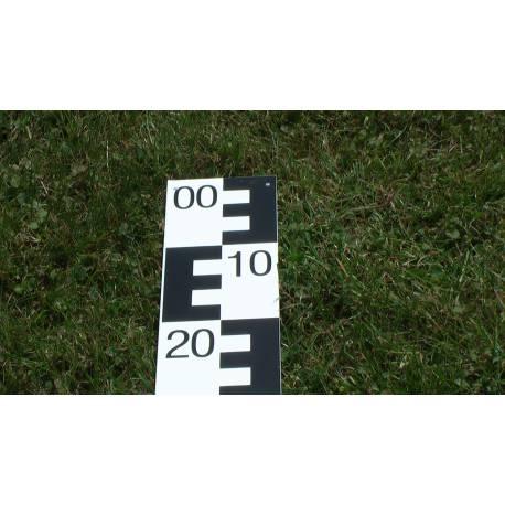 Vodočetná (limnigrafická) lať NESTLE, délka 1m, černá, 99-00.