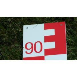 Vodočetná (limnigrafická) lať NESTLE, délka 1m, červená, 00-99.