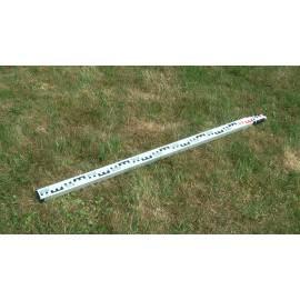 Nivelační lať teleskopická, délka 5m.