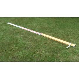 Nivelační lať dřevěná, skládací, 4m