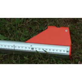 Měřící tyč NEDO mEssfix Compact, 0,91 - 5,01m.