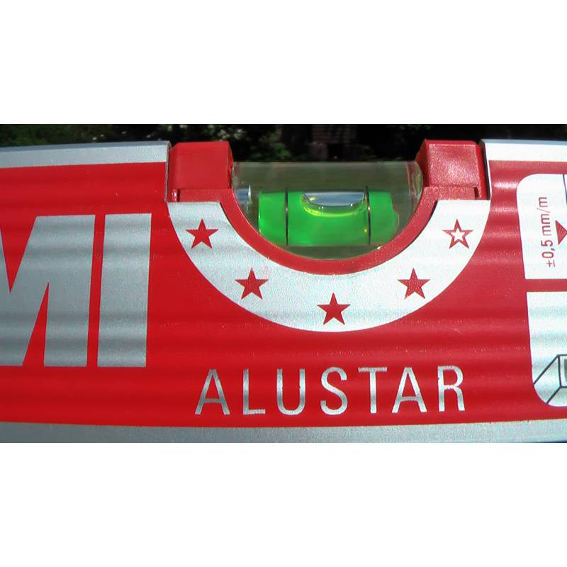 Vodováha ALUSTAR, standardní provedení, 50cm, 3 libely.
