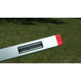 Vodováha BMI ALUSTAR magnetická 120cm, 2 libely.
