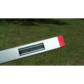 Vodováha ALUSTAR, standardní provedení, 180cm, 2 libely, s magnetem.