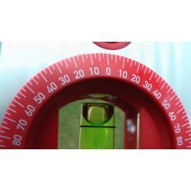Vodováha BMI ALUSTAR 80cm s nastavitelným úhlem.