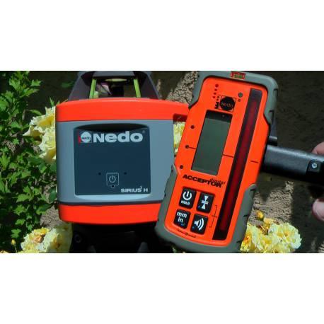 Rotační laser Nedo Sirius H + Acceptor digital.