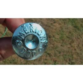 Měřický hřeb 50mm s popisem.