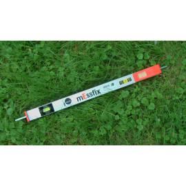 Měřící tyč NEDO mEssfix s hroty, 2,10m.
