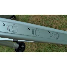 Průmyslový stativ NEDO, výsuvný těžký, pro laserové skenování v šachtách.