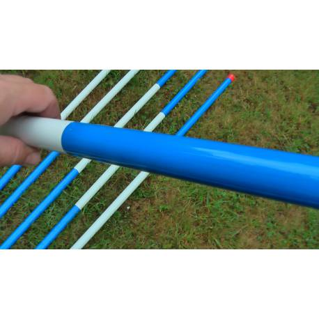 Ochranná tyč 2m, modro - bílá, průměr 25 mm