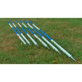 Výtyčka 2m, v kombinaci modrá - bílá