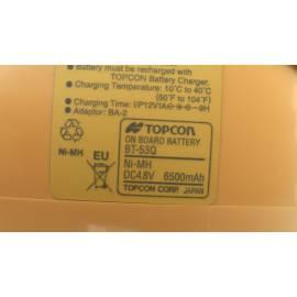 Akumulátor BT-53Q pro potrubní lasery Topcon.