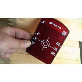 Malý cílový terč pro potrubní lasery Topcon, použitý