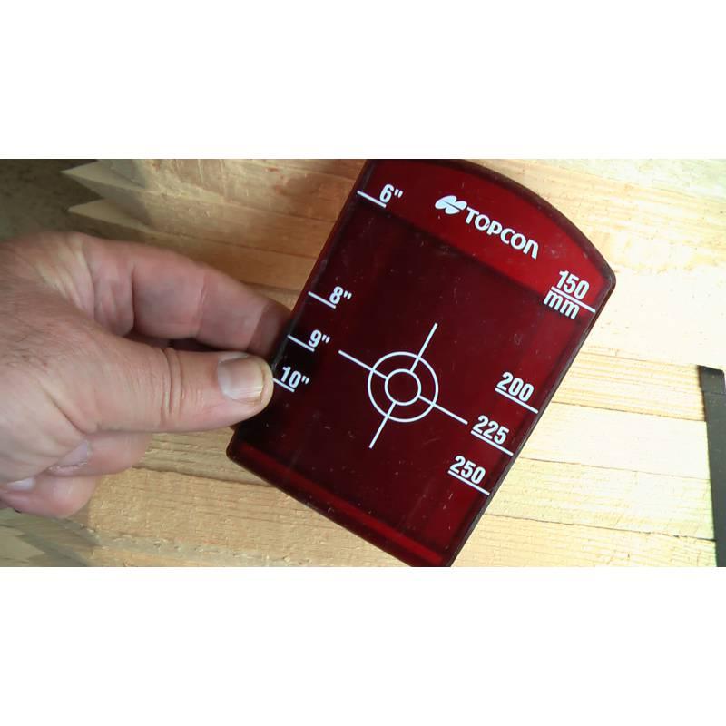 Malý terč pro potrubní lasery Topcon