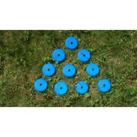 Podložka pod měřický hřeb, modrá