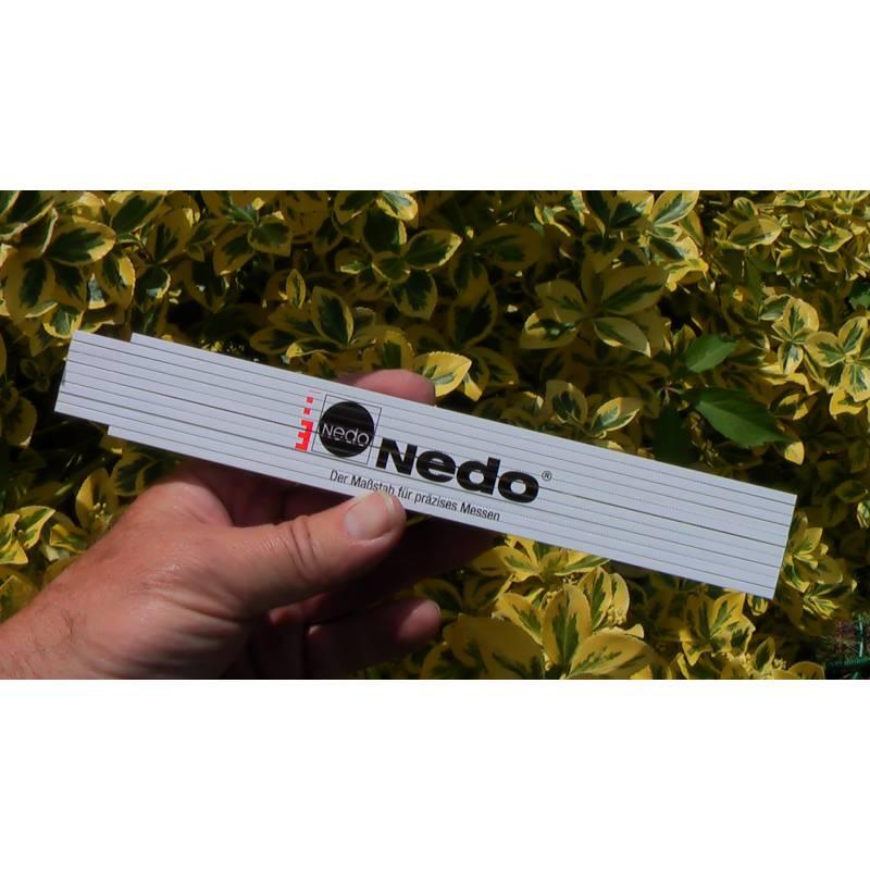Skládací metr Nedo, délka 2m.