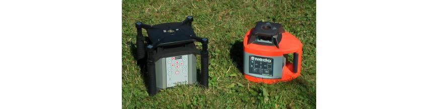 Rotační lasery pro vodorovnou i svislou rovinu.
