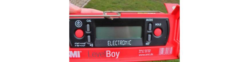 Sklonoměry elektronické **** (digitální vodováhy, sklonové lasery)