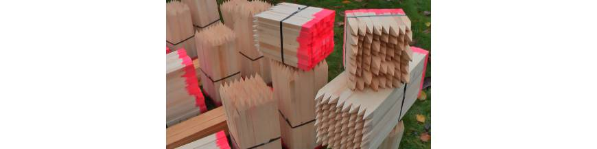 Kolíky dřevěné vytyčovací